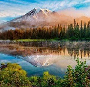 Mount Rainier Washington Lake Puzzle
