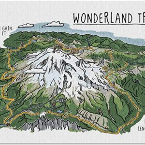 Mount Rainier Wonderland Trail Puzzle
