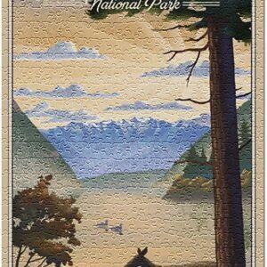 Olympic National Park Washington Lithograph Puzzle