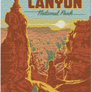 Retro Bryce Canyon National Park Jigsaw Puzzle