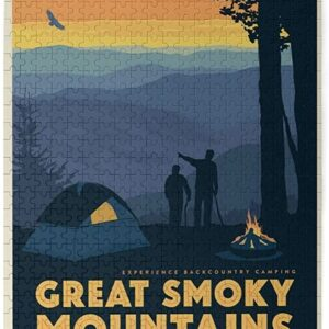 Retro Great Smoky Mountains National Park Kids Puzzle