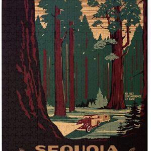 Retro Sequoia National Park Puzzle