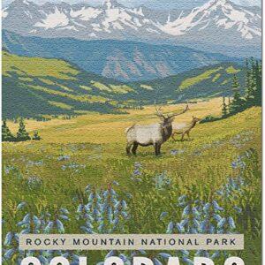 Rocky Mountain National Park Colorado Elk Puzzle