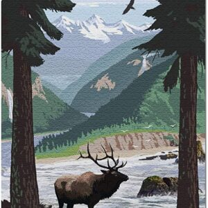 Rocky Mountain National Park Elk Jigsaw Puzzle