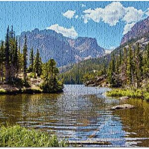 Rocky Mountain National Park Loch Lake Jigsaw Puzzle