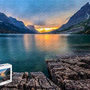 Saint Mary Lake Glacier National Park Puzzle