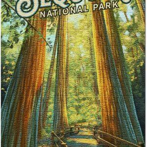 Sequoia National Park California Path Jigsaw Puzzle