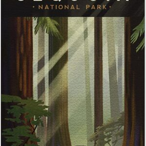 Sequoia National Park Lithograph Puzzle