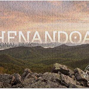 Shenandoah National Park Sunset Jigsaw Puzzle