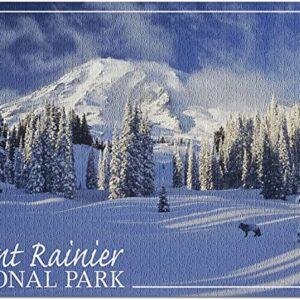 Winter Mount Rainier National Park Puzzle