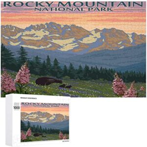Wooden Rocky Mountain National Park Puzzle