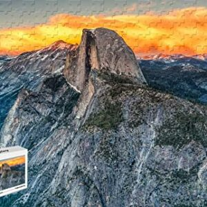 Wooden Yosemite National Park Half Dome Jigsaw Puzzle
