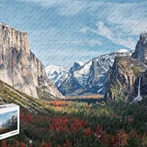 Wooden Yosemite Valley Tunnel View Puzzle