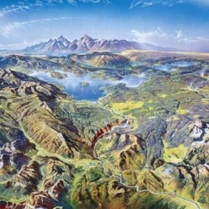 Yellowstone National Park Panorama View Puzzle