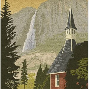 Yosemite National Park Yosemite Chapel Puzzle