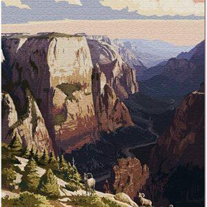 Zion National Park Utah Sunset Puzzle